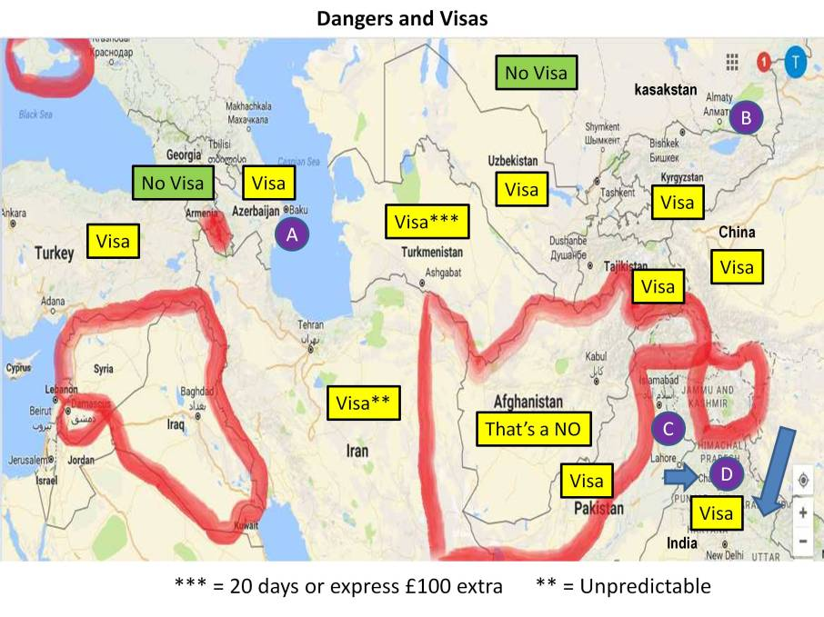 dangers and Visas