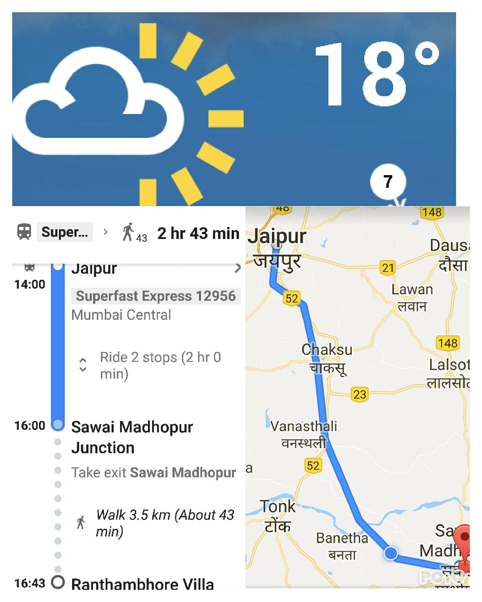 Day 45 Jaipur To Sawei Madhopur